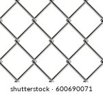 chain link fence seamless... | Shutterstock .eps vector #600690071