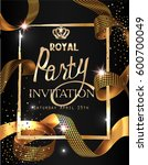 royal party invitation card... | Shutterstock .eps vector #600700049