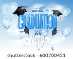 graduation 2017background with... | Shutterstock .eps vector #600700421