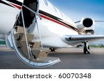 business private jet with open...   Shutterstock . vector #60070348