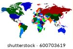 map of the world detailed in... | Shutterstock .eps vector #600703619