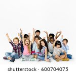 happiness group of cute and... | Shutterstock . vector #600704075