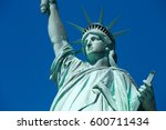 Statue Of Liberty  Blue Sky In...