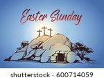 drawing vector calvary  cross ...   Shutterstock .eps vector #600714059