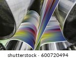 a large offset printing press... | Shutterstock . vector #600720494