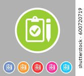 clipboard checklist icon flat... | Shutterstock . vector #600720719