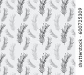 rustic feathers background icon | Shutterstock .eps vector #600725309