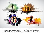 silhouette of marathon runner | Shutterstock .eps vector #600741944