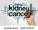 kidney cancer word cloud...   Shutterstock . vector #600744929