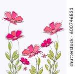 blooming spring flowers | Shutterstock .eps vector #600746831