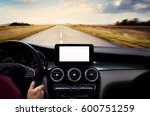 navigation device on center of... | Shutterstock . vector #600751259