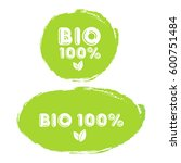 green rubber stamp 100  organic ... | Shutterstock .eps vector #600751484