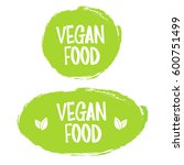 vegan food. stamp. sticker | Shutterstock .eps vector #600751499