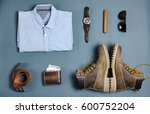 male clothes and fashion... | Shutterstock . vector #600752204
