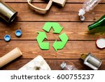 eco concept with recycling... | Shutterstock . vector #600755237