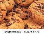 american cookies. biscuits... | Shutterstock . vector #600755771