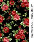 elegant roses | Shutterstock . vector #600758849