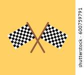 racing flag icon | Shutterstock . vector #600759791