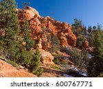 red rock canyon landscape ... | Shutterstock . vector #600767771