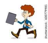 ridiculous caricature ... | Shutterstock . vector #600779981