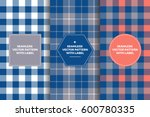 grey  navy and coral tartan and ...