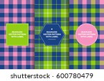 navy pink green tartan and...
