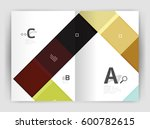 squares and rectangles a4... | Shutterstock .eps vector #600782615
