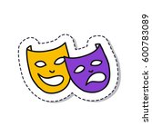 doodle icon  sticker.... | Shutterstock .eps vector #600783089