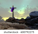 Crucifixion Sunset With Purple...