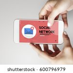 message letter e mail chat... | Shutterstock . vector #600796979