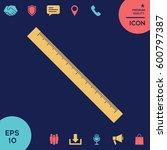 the long ruler icon   Shutterstock .eps vector #600797387