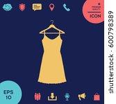 sundress  evening dress ... | Shutterstock .eps vector #600798389