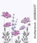 spring flowers background | Shutterstock .eps vector #600804257