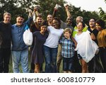 group of diversity people... | Shutterstock . vector #600810779
