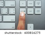 pressing on the delete key