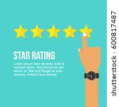Hand Pointed 5 Stars Rating