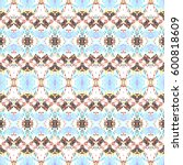 mosaic seamless colorful... | Shutterstock . vector #600818609