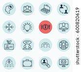 set of 16 business management... | Shutterstock .eps vector #600820619