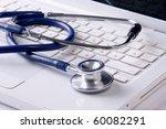 medical laptop | Shutterstock . vector #60082291