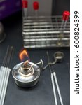 close up detail of a lit metal... | Shutterstock . vector #600824399