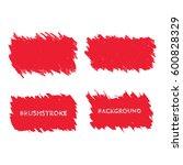 light red brush stroke frame... | Shutterstock .eps vector #600828329