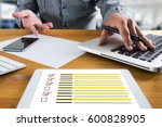 businessman survey and results... | Shutterstock . vector #600828905
