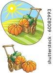 autumn harvest  wheelbarrow... | Shutterstock .eps vector #60082993