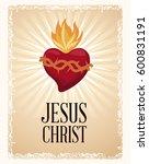 sacred heart blessed spirit | Shutterstock .eps vector #600831191