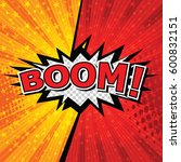 boom  comic speech bubble ... | Shutterstock .eps vector #600832151