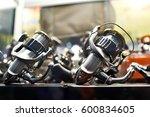 spinning reels in store closeup   Shutterstock . vector #600834605