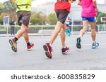 marathon running race  people... | Shutterstock . vector #600835829