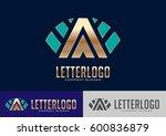 a letter logo template design...   Shutterstock .eps vector #600836879