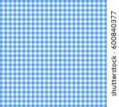 vector gingham pattern in blue... | Shutterstock .eps vector #600840377