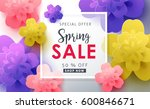 spring sale background layout... | Shutterstock .eps vector #600846671